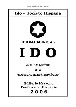 ido – societo hispana