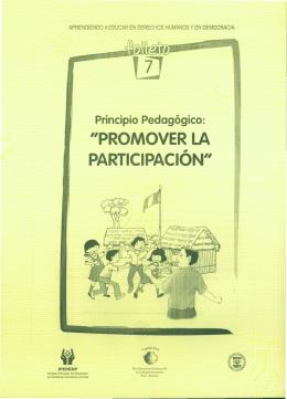 """""""PROMOVER LA PARTICIPACION"""""""