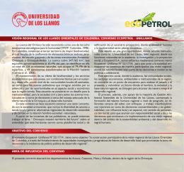 visión regional de los llanos orientales de colombia. convenio