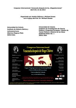 Para abrir el folleto con información con respecto al congreso y al