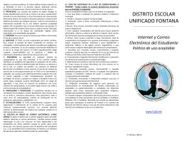 DISTRITO ESCOLAR UNIFICADO FONTANA
