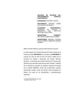 sup-rep-171/2015 recurrente - Tribunal Electoral del Poder Judicial