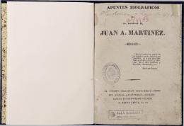 Apuntes biogr?ficos del General Juan A. Mart?