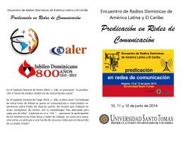 Folleto de Encuentro de Radios Dominicas de