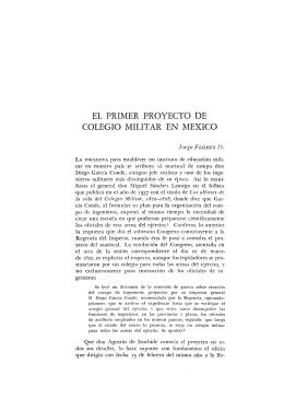 EL PRIMER PROYECTO DE COLEGIO MILITAR EN MEXICO