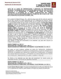 Maquinaria de Veracruz O.P.D Subdirección de Administración
