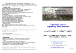 Sistema de Gestión Seguridad y Medio Ambiente