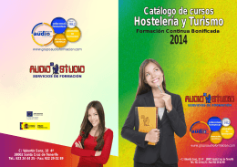 Folleto 2014 Hostelería y Turismo