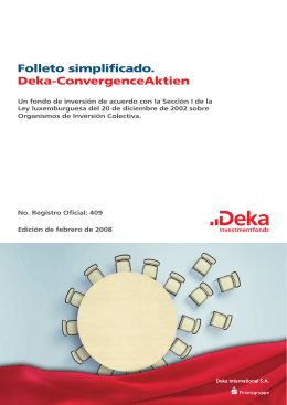 Folleto simplificado. Deka