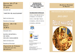 FOLLETO NAVIDAD 2012 - Ayuntamiento de Ejea de los Caballeros
