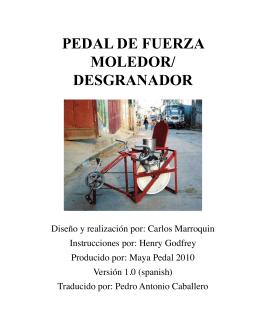 PEDAL DE FUERZA MOLEDOR/ DESGRANADOR