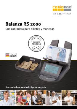 Especificaciones Técnicas Ratiotec RS-2000