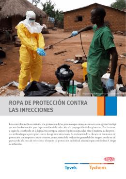 ROPA DE PROTECCIÓN CONTRA LAS INFECCIONES
