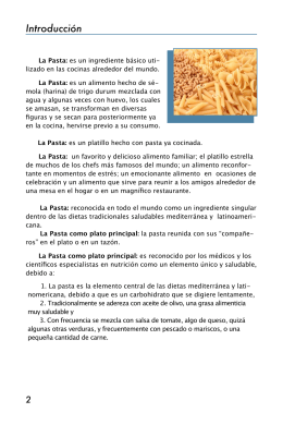 Introducción - International Pasta Organisation