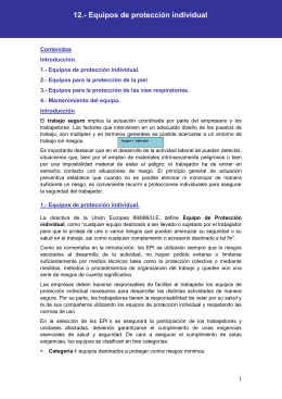 12.- Equipos de protección individual