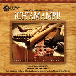 ¡CH`AMAMPI! - cemduc - Pontificia Universidad Católica del Perú