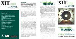 Folleto jornadas - Asociación Profesional de Museólogos de España