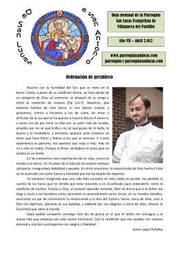 Abril - Parroquia San Lucas