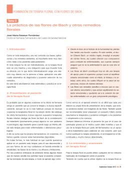 Tema 9. La práctica de las flores de Bach y