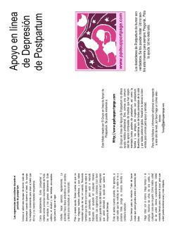 Apoyo en línea de Depresión de Postpartum