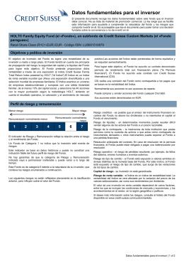 Key Investor Information: LU0601510679