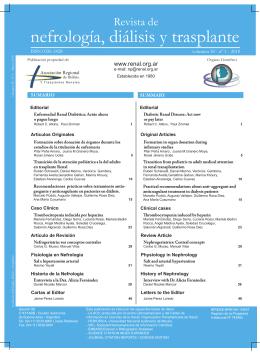 Volumen 30 / Número 1 - Asociación Regional de Diálisis y