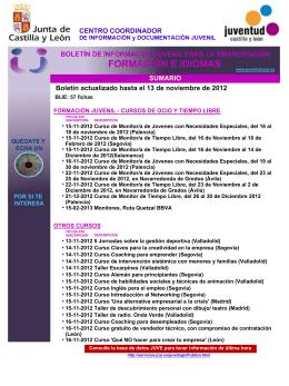 FORMACIÓN E IDIOMAS - Consejo Comarcal del Bierzo