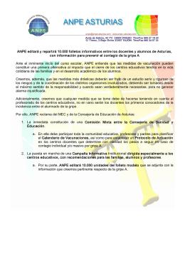 nota de prensa - ANPE Asturias