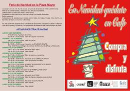 Feria de Navidad en la Plaza Mayor