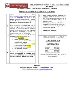 FOLLETO REQUISITOS NVO INGRESO 2013