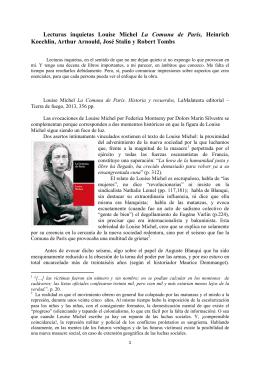 Lecturas inquietas Louise Michel La Comuna de París