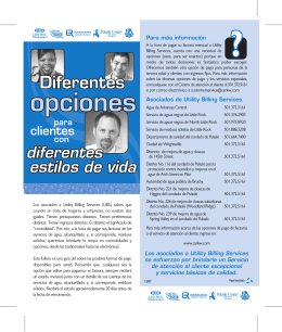 Diferentes Opciones - Central Arkansas Water