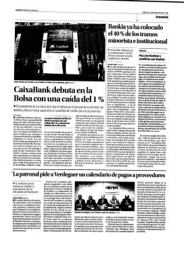 CaixaBank debuta en la Bolsa con una caída del 1