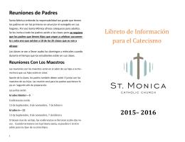 Libreto de Informacio n para el Catecismo 2015– 2016