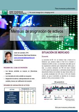Mensual de asignación de activos - BNP Paribas Investment Partners