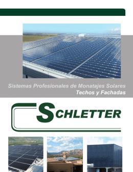 Sistemas Profesionales de Monatajes Solares Techos y Fachadas