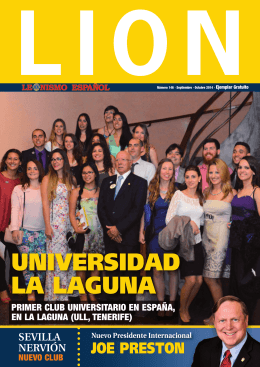 leonismo español - septiembre / octubre 2014