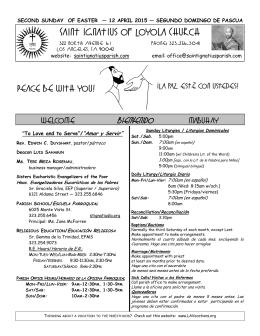 Weekly Bulletin 4-12-15