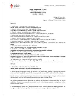 Minuta Informativa N° 83 (2015)