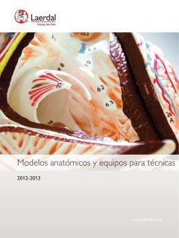 Modelos anatómicos y equipos para técnicas