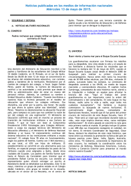 Resumen de prensa - Ejército Ecuatoriano