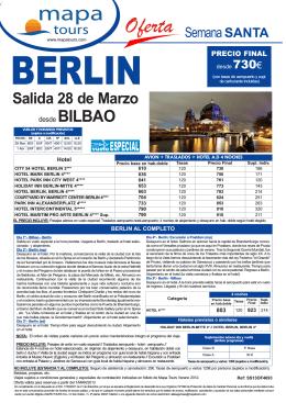 01-03-13 BERLIN Semana Santa BIO desde 730