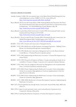 GTZ (xxxx) Literatura Utilizada / recomendada. La