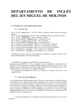 DEPARTAMENTO DE INGLÉS DEL IES MIGUEL DE MOLINOS