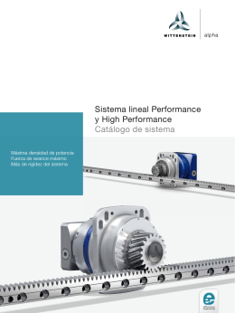 Sistema lineal Performance y High Performance