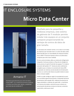 Micro Data Center - IT Enclosure Systems