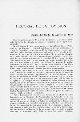 HISTORIAL DE LA COMISION