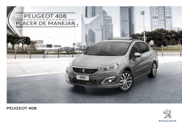 Ficha técnica Nuevo Peugeot 408