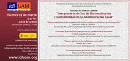 Jornada Anteproyecto Ley Racionalización