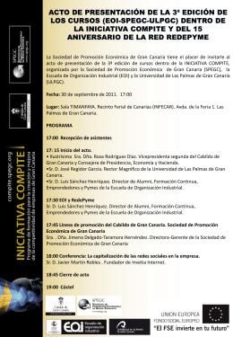 La Sociedad de Promoción Económica de Gran Canaria